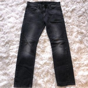 Men's LEVI Slim Fit Black Washed Out Jeans 34x32